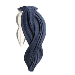 Serpentine Headband, Denim