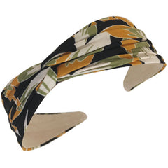 Twist Top Headband, Leaves