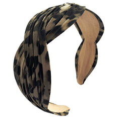 Serpentine Headband, Leopard