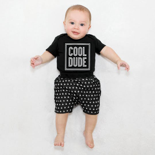 Cool Dude Onesie & Star Shorts