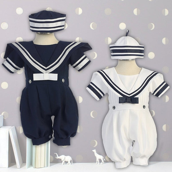 Babies Toddlers Boy Sailor Jumper with Hat