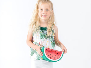 Girl Cute Watermelon Crossbody Bag with Gold Chain, Party, Weekends, Vacation