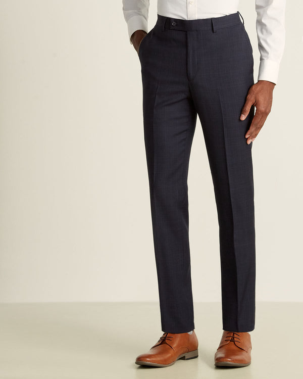 DKNY Men's Navy/Brown Suit DHUE212Y1523 Donahue