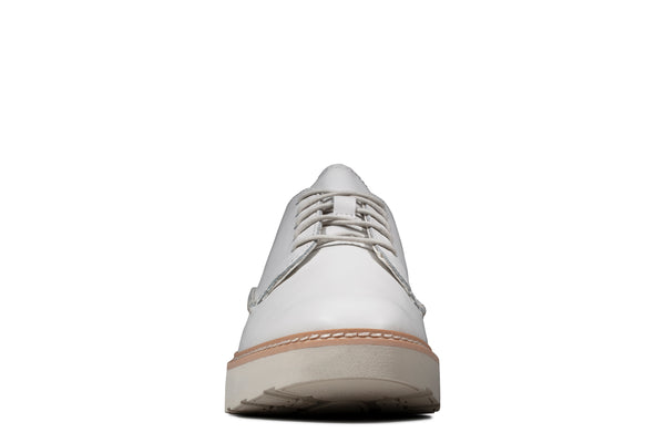 Clarks Women's Trace Walk White Leather