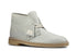 Clarks Desert Boot White Leather
