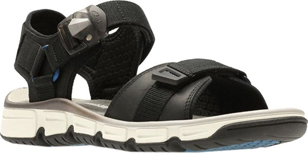 Clarks Men's Explore Part Walking Sandal,Black Nubuck Leather,US 10 M