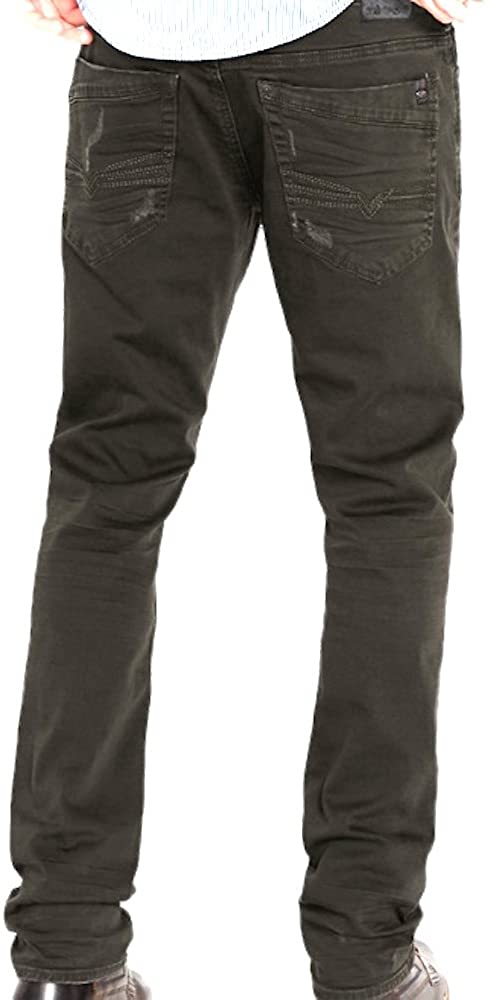 Buffalo David Bitton Ash-X Men's Solid Authentic Skinny Jeans (30x32)