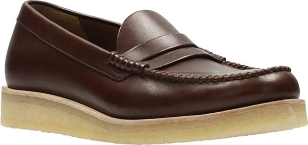 Clarks Men's Burcott Penny Loafer,Bordeaux Leather,US 9 M