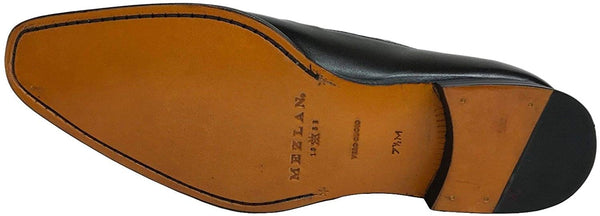 Mezlan Men's Black Leather Double Monk Strap Dress Shoes 14434-F (9.5)