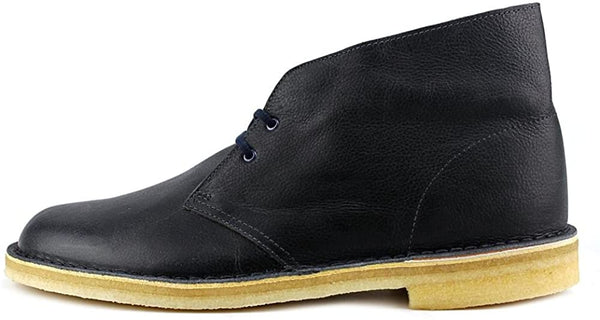 Clarks ORIGINALS Men's Navy Leather Desert Boot