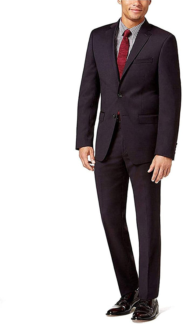 Calvin Klein Men's Extreme Slim Fit Wine Suit MBYR2 5FY0775