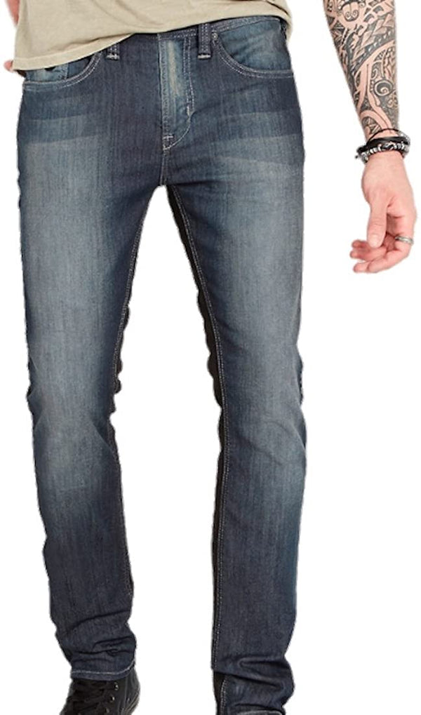 Buffalo David Bitton Super Max-X Men's Skinny Jeans Sanded and Coated Indigo (38x32)