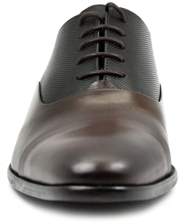 Sergio Serrano Men's Oxford Brown Leather Dress Shoes