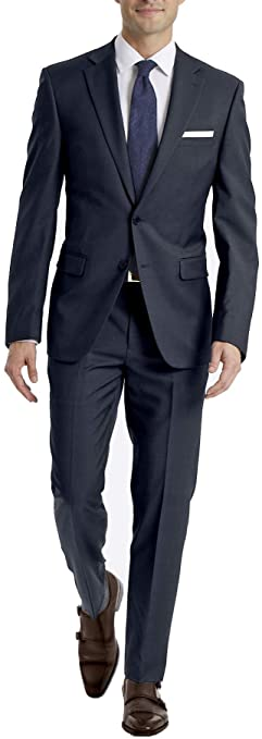 Calvin Klein Men's Slim Fit Infinite Stretch Navy Suit MBYR25FY0201