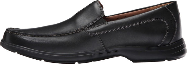 Clarks Men's Un.Easley Twin Loafer,Black Leather,US 7 M