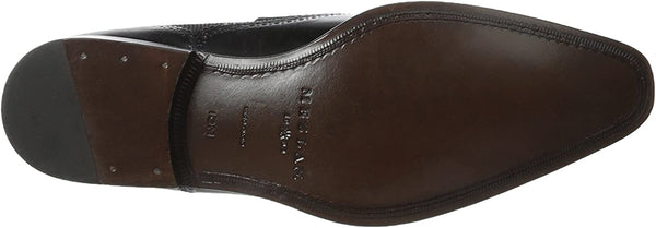 Mezlan Men's Wingtip Loafer, Black, 8.5 M US
