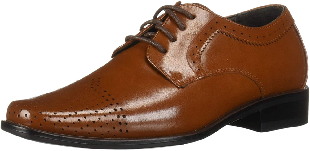 STACY ADAMS Kids' Sanborn Perfed Cap Toe Lace-up Oxford