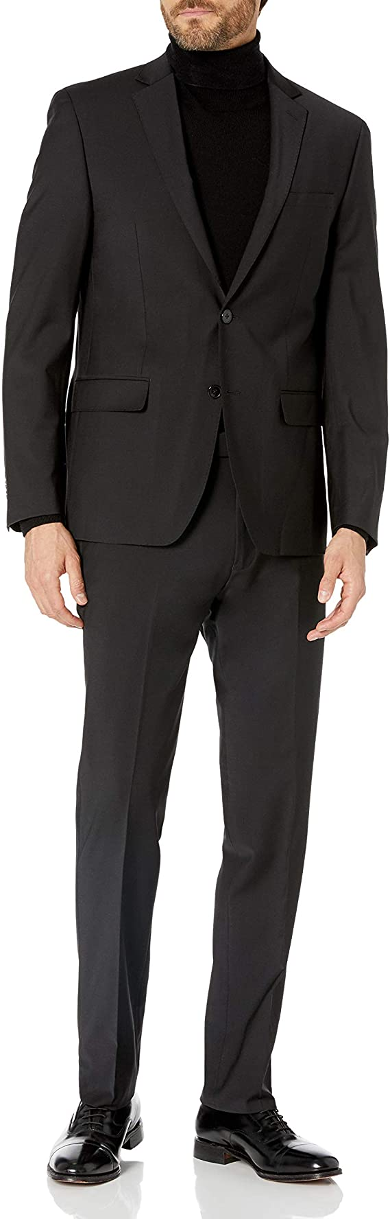 Calvin Klein Men's Extra Slim Infinite Stretch Black Suit MNRT2 5CW0023