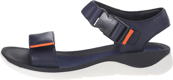 Clarks Women's Caval Dixie Quarter Strap Sandal,Navy Full Grain Leather,US 11 W