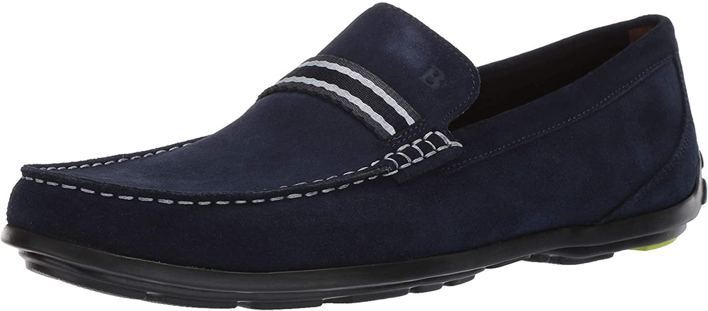 Bostonian Men's Grafton Driver Driving Style Loafer, Navy Suede, 085 M US
