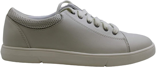 Clarks Mens Landry Vibe Leather Low Top Lace Up Fashion, White, Size 9.5