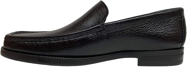 Calzoleria Toscana Men's Deerskin Black Loafers Z682