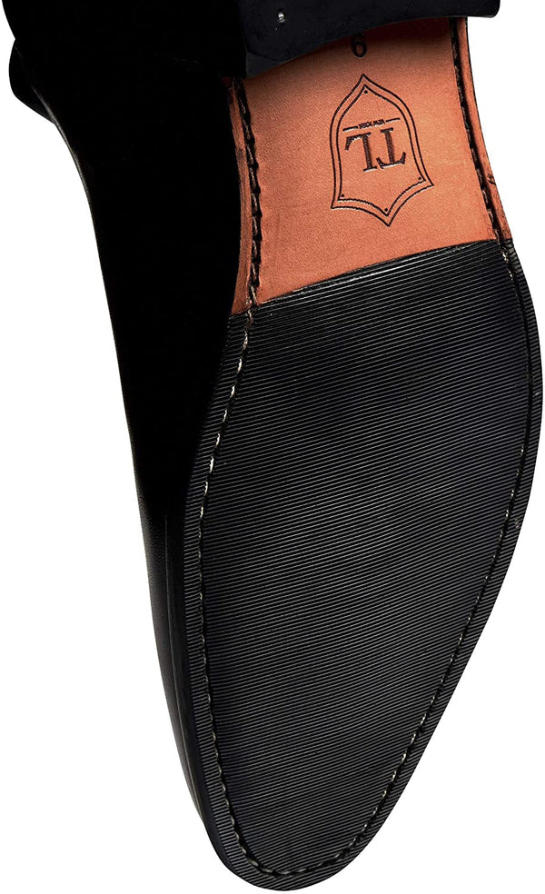 Timberlux New York Black Chelsea Calfskin Leather Boots, Men Leather Shoes