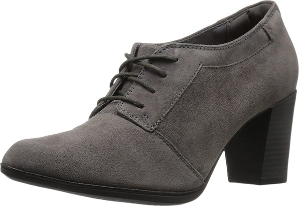 Clarks Women's Araya Hale Lace Up Shoe,Grey Goat Suede,US 12 M