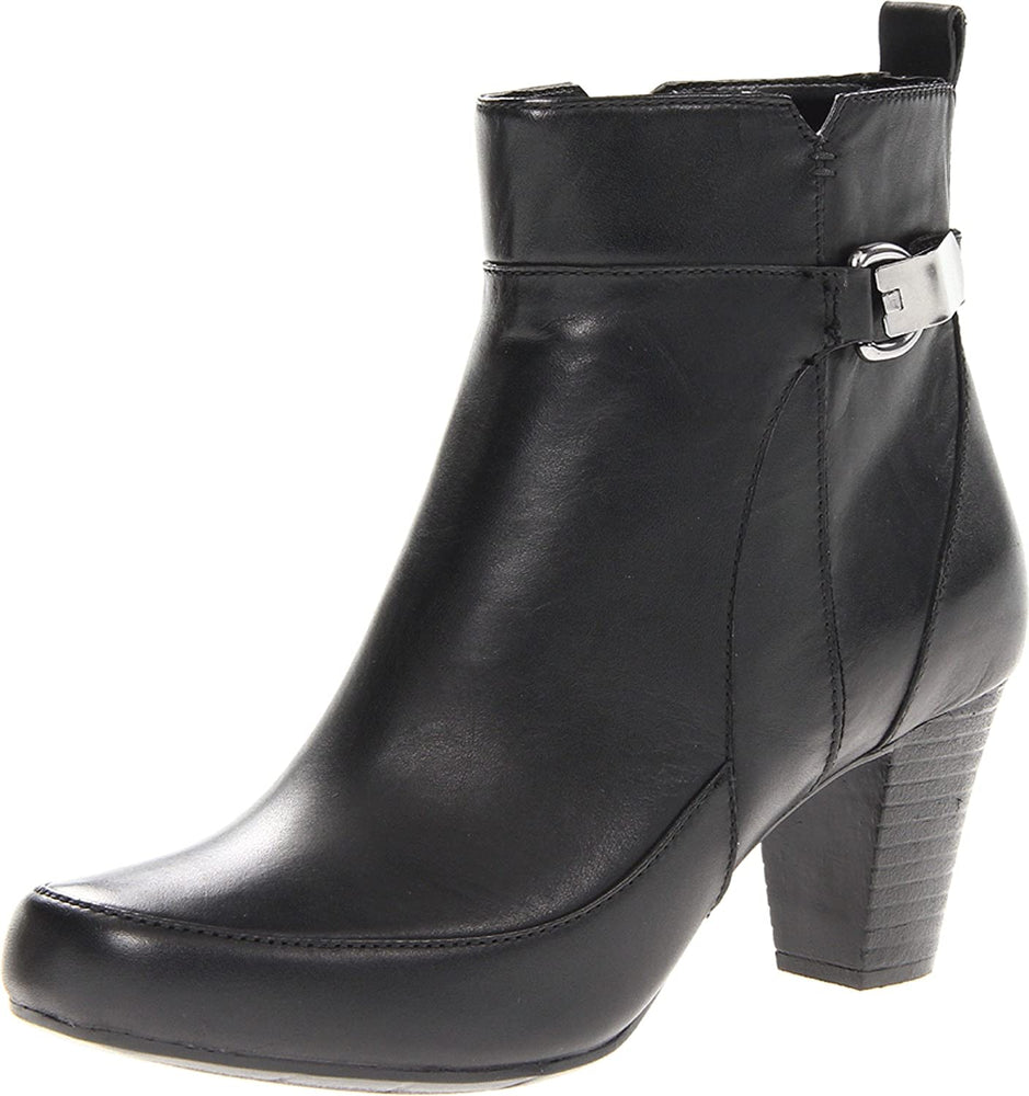 CLARKS Sapphire Lina Women's Ankle Boot Black Leather 10 M