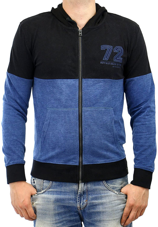 Buffalo David Bitton Men's Fabrind Long Sleeve Zip Hooded Sweatshirt