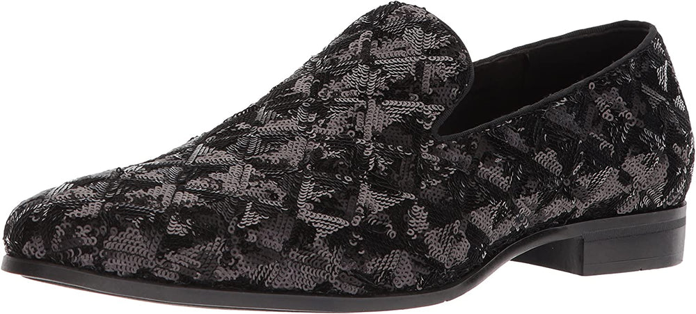 STACY ADAMS Men's Swank Sequined Slip-on Driving Style Loafer