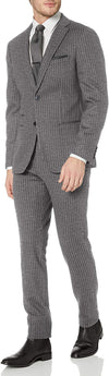 Calvin Klein Men's Extreme Slim Fit Grey Pin Stripe Suit MCMY2 5QX0000
