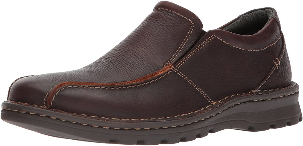 Clarks Men's Vanek Step Loafer, Brown Oily Leather