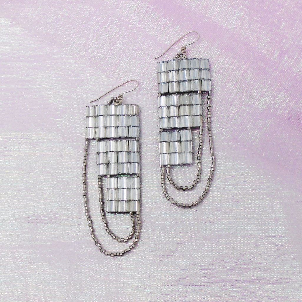 CRYSTAL WAVE EARRINGS