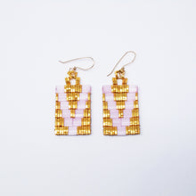 VOX EARRINGS-SATIN PINK