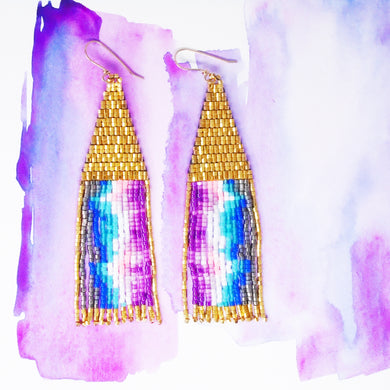COLORWAVE EARRINGS-GOLD