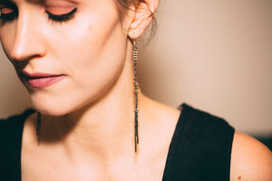 STRUCTURE TASSEL EARRINGS