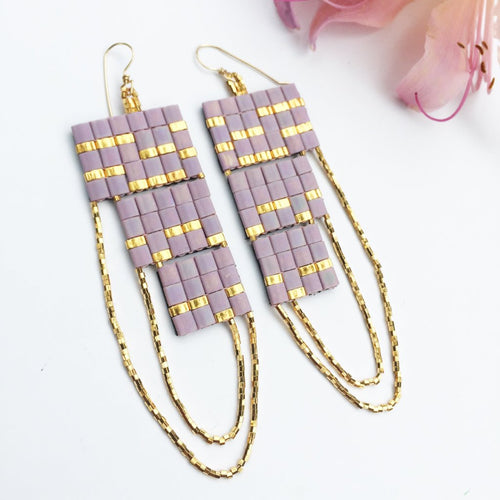 LAVENDER SPARK EARRINGS
