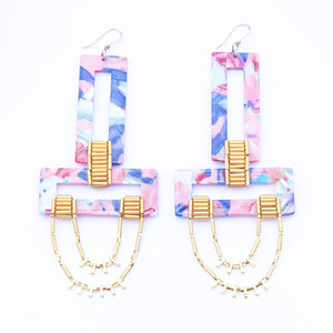 MONSOON EARRINGS- PINK