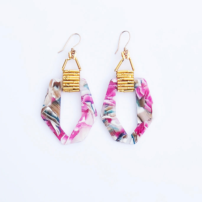 FRENCH GARDEN EARRINGS- SMALL