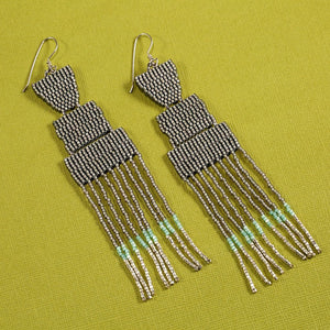 DAYBREAK EARRINGS (GLOSSY GREY)