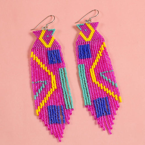 ARCADE EARRINGS (FUCHSIA)