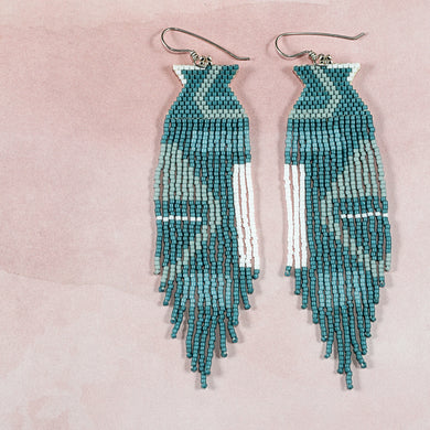CONTOUR EARRINGS (SMOKY BLUE)