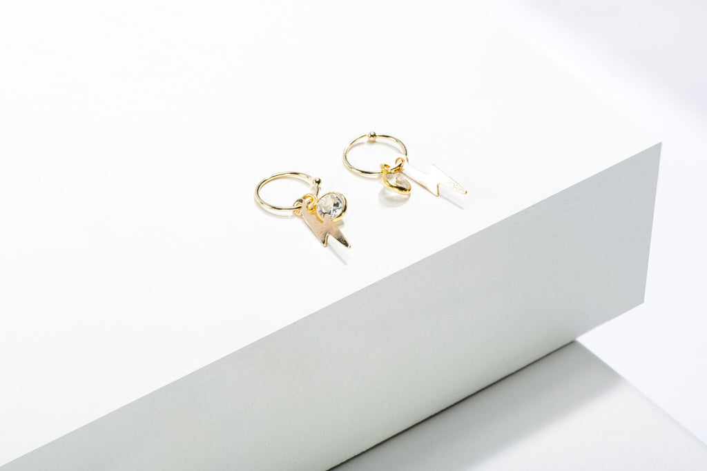 Gold And Cz Piercing