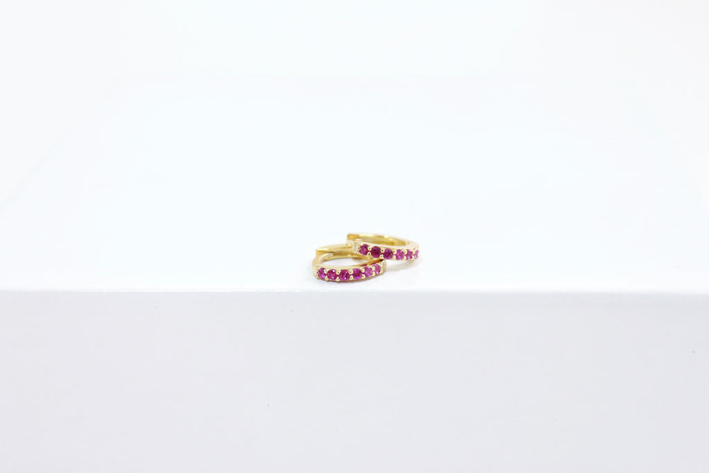 RUBY MINI HOOPS