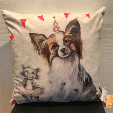 Partyprinsessor (Papillon) Kuddfodral 50 x 50