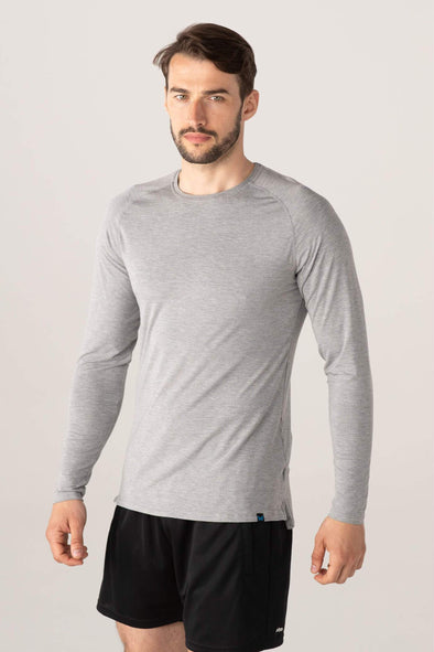 edge long sleeve - grey marl