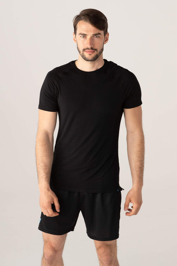 edge short sleeve - black