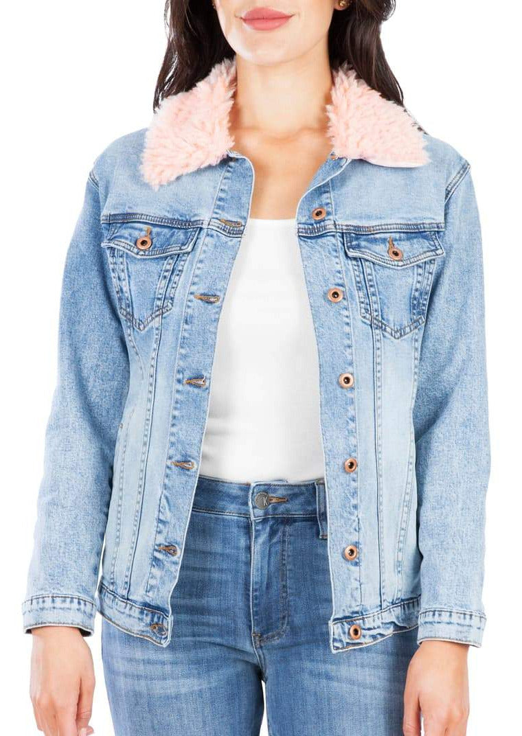 KUT Fur Collar Boyfriend Jacket - Economic