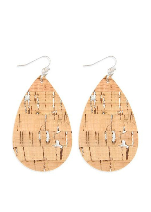 Earth Love Cork Earrings | Silver